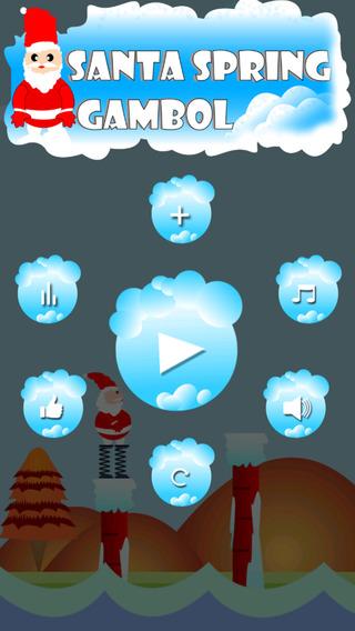 Xmas Santa's Spring Gambol planet - christmassy santa doodle jump hd fun game for teens ever