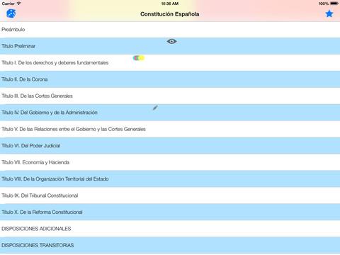 Constitución Española de 1978 iPad Screenshot 1
