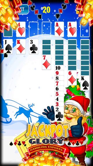 Christmas Fun Snow Maker Santa Run Solitaire Classic Free Cards Game Casino Salon Solitaire Deluxe E
