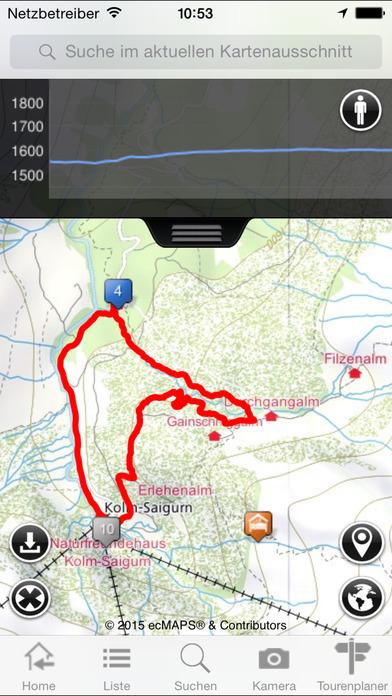 Tourenportal - zu den schönsten Zielen und Berggipfeln in Österreich und Bayern iPhone Screenshot 5