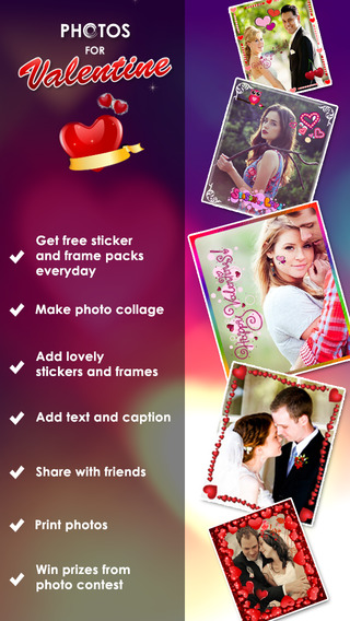 Photo for Valentine Pro Photosticker Lovely Frame Picseffect for Valentinepicture foto