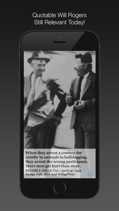 Will Rogers Daily Quotes iPhone Screenshot 3