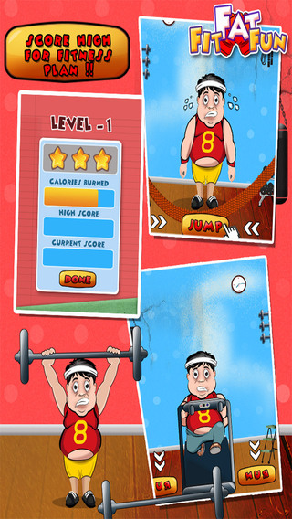 Fit Fat Fun – Do heavy exercises and make the chubby character look smart