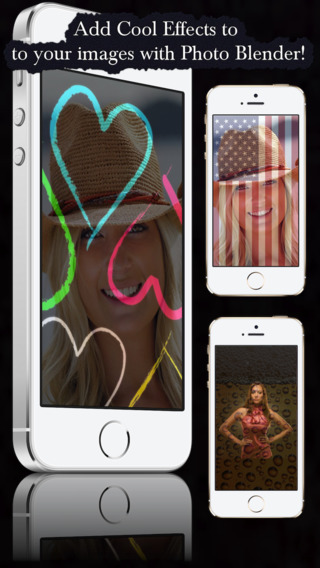 Photo Blender - Add Cool Texture with Background on top of your images