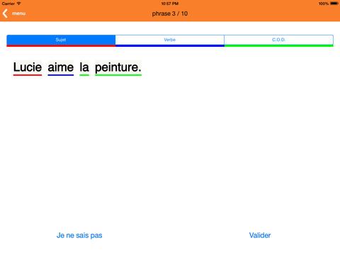 Grammaire CE1 iPad Screenshot 1