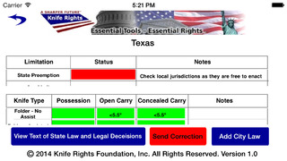 Screenshot for Knife Rights LegalBlade™ in United States App Store