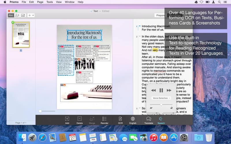 Prizmo 3 - Scanning, OCR & Speech for Mac