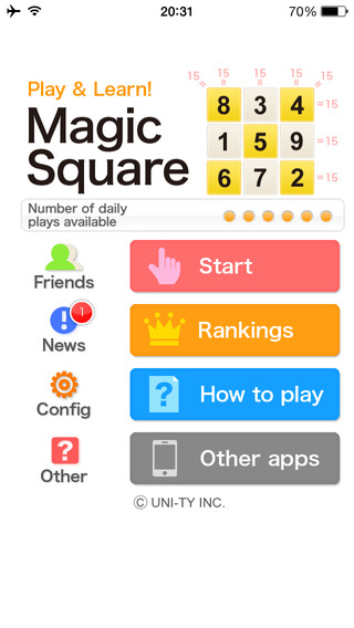 Magic square Play Learn Series