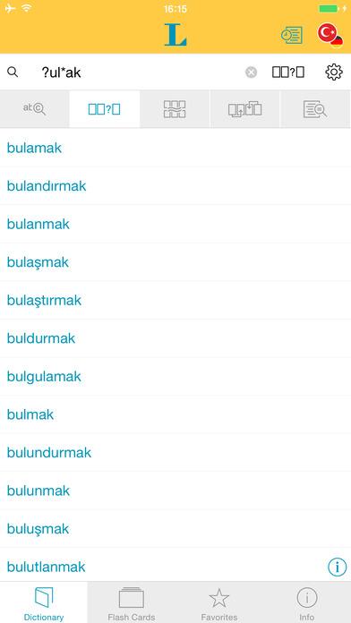 Turkish <-> German Dictionary Langenscheidt Standard iPhone Screenshot 4
