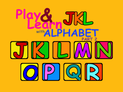 Play Learn with Alphabet part 2