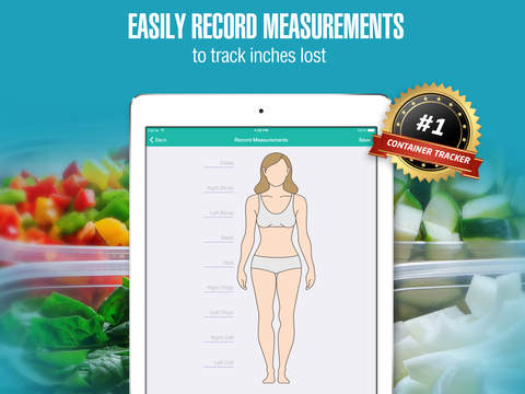 21 Day Container Tracker™ - Exercise, Diet, Weight, and Body Measurement Fix Screenshots