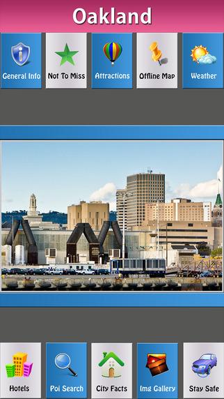 Oakland Offline Map Travel Guide