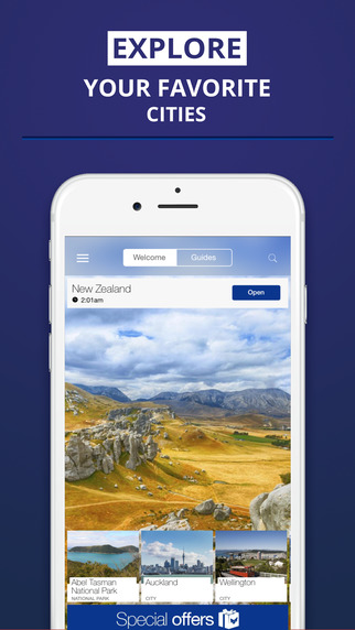 New Zealand - your travel guide with offline maps from tripwolf guide for sights tours and hotels in