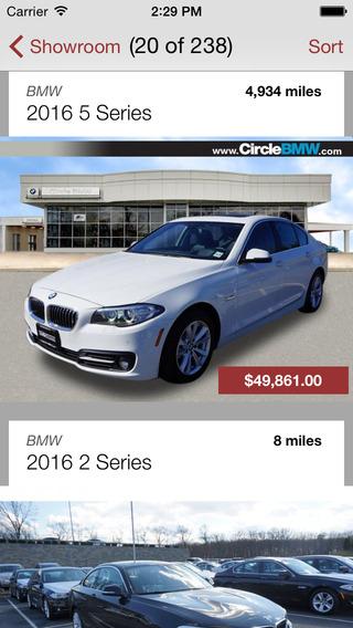 Circle BMW iPhone Screenshot 2