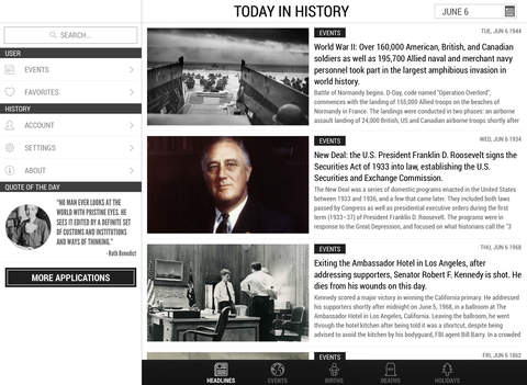 Today In History iPad Edition