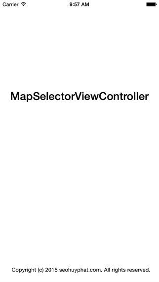 Map Selector View Controller