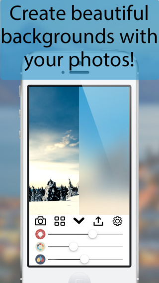BlurB: Create Beautiful Backgrounds for iPhone