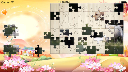 Cute Dog JigSaw Puzzle Game for Kids Free