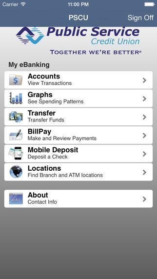 Public Service Credit Union Mobile Banking