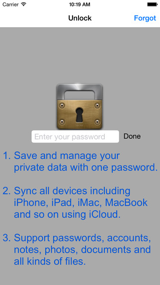 SafeBox Pro - Password and Private Files Photos Notes Videos Manager