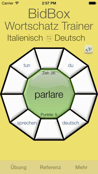 Vocabulary Trainer: German - Italian iPhone Screenshot 4