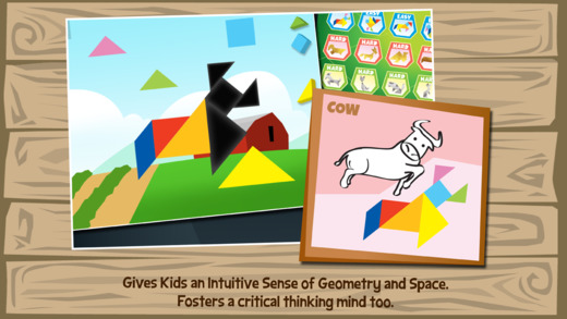 Kids Learning Puzzles: Farm Animals - Tangrams for K12