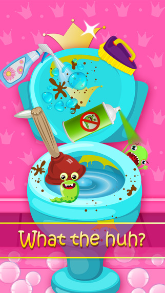 Princess Bathroom Clean Up - Washroom Spa
