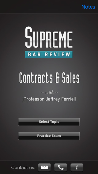 Contracts & Sales: Supreme Bar Review iPhone Screenshot 1