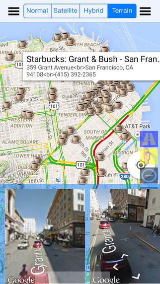 Live Street Map View Pro for Nearest Starbucks - Best App for Search Starbucks