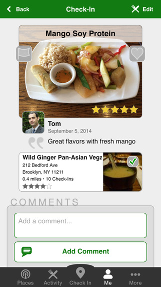 Vegetarious - Vegetarian and Vegan Restaurant Guide with Check-Ins