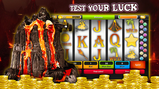 【免費遊戲App】Kilauea Volcano Erruption Slot Machine Pompeii Roman Lucky 777 Spin to Win 1-APP點子