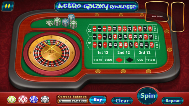 Aaaah Astro Galaxy Roulette Casino All Style 3D