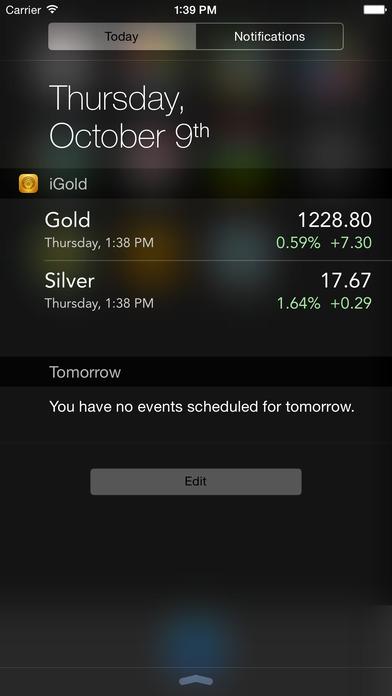 iGold iPhone Screenshot 2