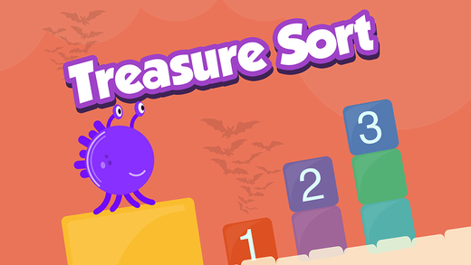 Treasure Sort Halloween: Baby First Basic Skills Sort by Size Numbers 321 to 123 FULL