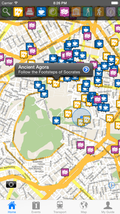 Athens Travel Guide Offline iPhone Screenshot 1