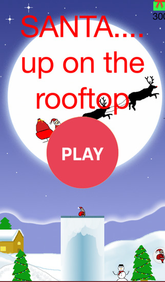 Santa up on the rooftop