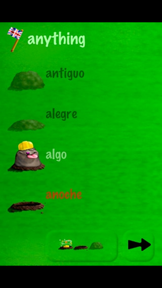 Spanish with Vocab Mole Lite iPhone Screenshot 3