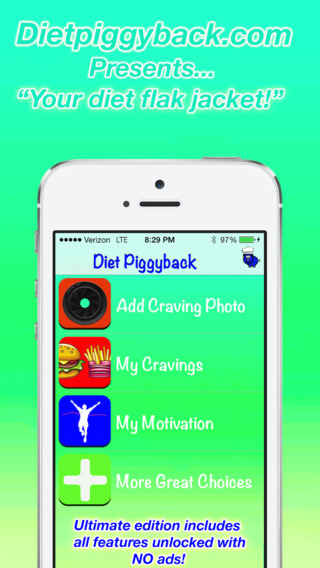 Diet Piggyback Ultimate: Managing your Cravings to Prevent Huge Binges
