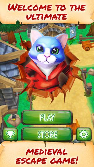 Blue Lynx Cat Racer - PRO - A Grumpy Puss In Boots Street Runner Game