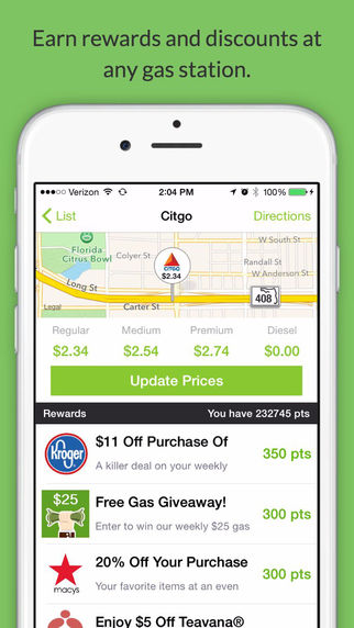 Fuelzee : Cheap Gas Prices and Gas Station Finder.
