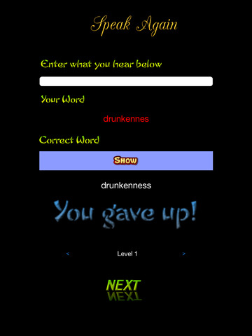 Spellit! Audio Word Game screenshot 4