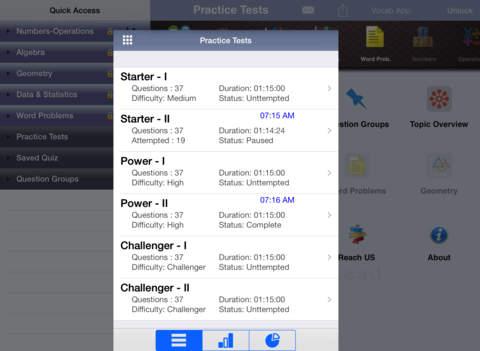 6 ACT Practice Tests (Math) iPad Screenshot 1