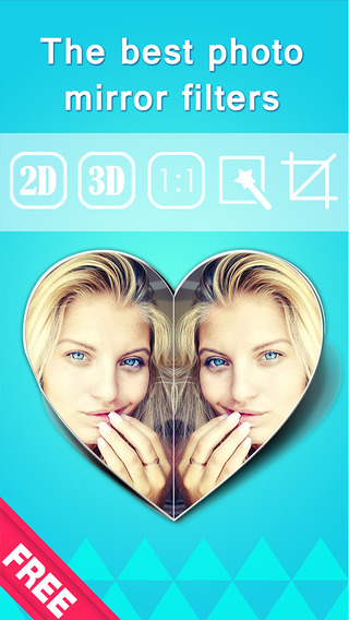 Mirror Image Free - Best photo editor to split-pic blend pictures