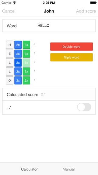 Word Game Score Keeper