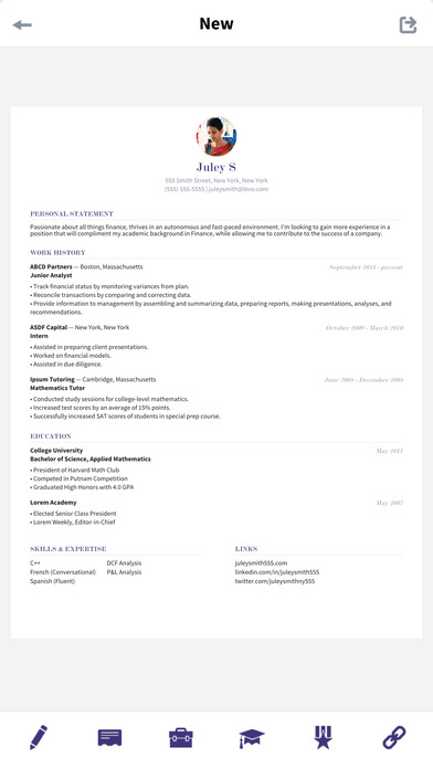 levo resume on the app store