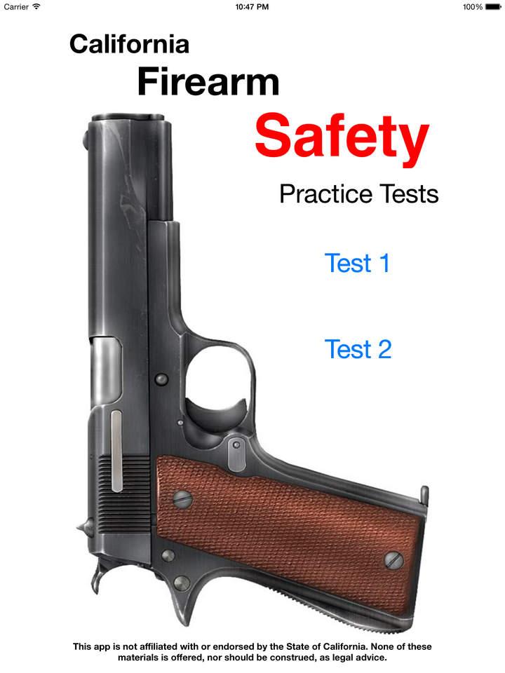 California Firearm Safety Certificate Practice Test 2015 Handgun