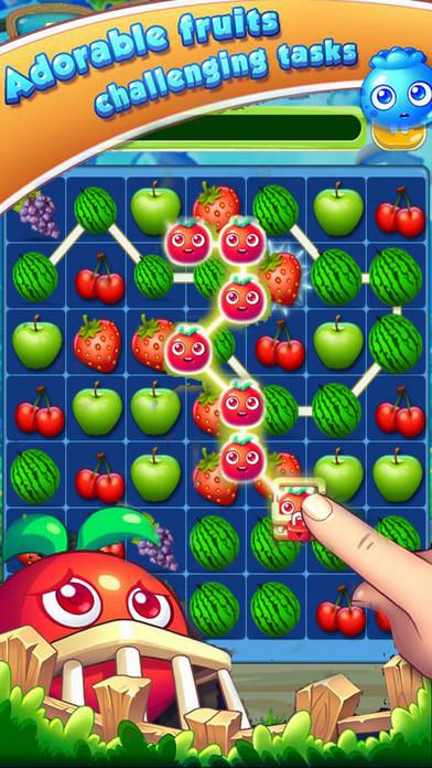 Happy Fruit Splash - Garden Match-3 iPhone Screenshot 1