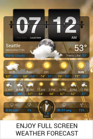 Weather+ app screenshot