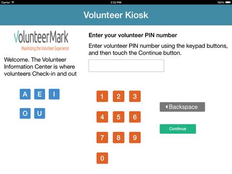Volunteer Kiosk