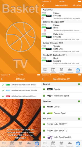 Basket TV iPhone Screenshot 3
